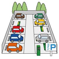 イラスト駐車場