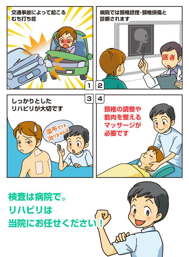 マンガで説明首の痛み